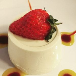 Panna cotta at The Helyar Arms
