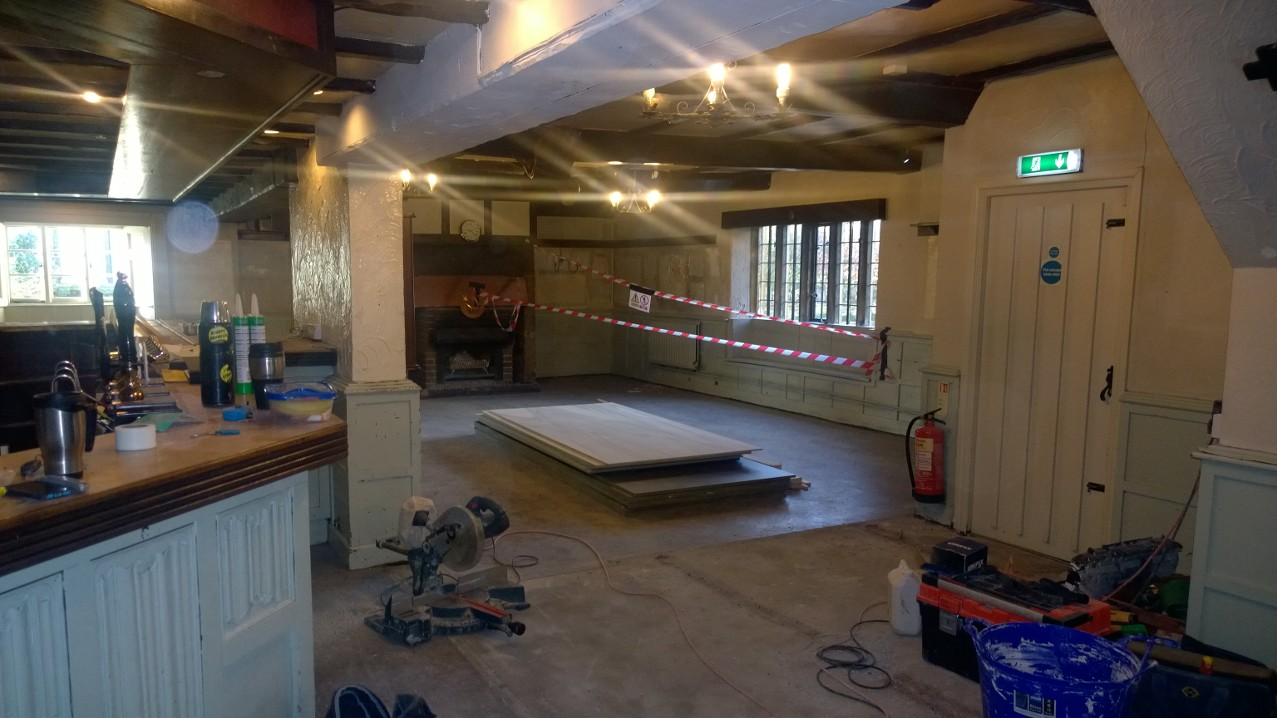 The Helyar Arms gallery - refurbishment